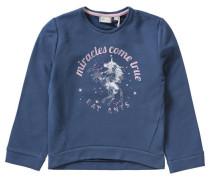 Sweatshirt Einhorn für Mädchen blau