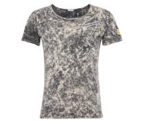T-Shirt 'MT Follow round' creme / graphit