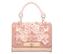 Handtasche mit Blumenbesatz pink