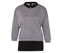 Sweatshirt 'Lavare' grau / schwarz