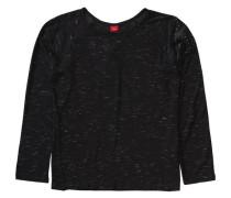 Langarmshirt für Mädchen Stern schwarz