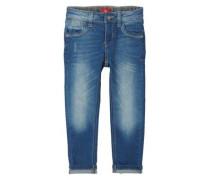 Brad Slim: Stretch-Jeans mit Patch blau