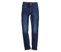 Dunkle Stretch-Denim 'Skinny Seattle' blau