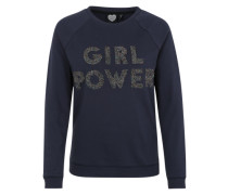 Sweatshirt 'Girl Power' blau