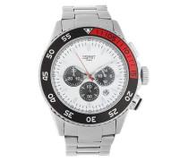 Armbanduhr mit Stoppfunktion 'es103621008' rot / schwarz / silber