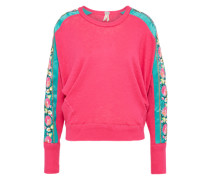 Sweatshirt 'wallflower' türkis / pink