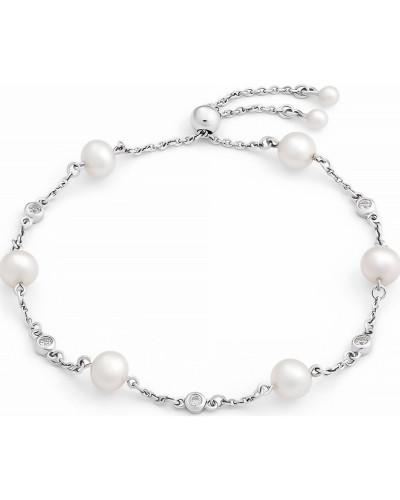 Armband silber / weiß / perlweiß