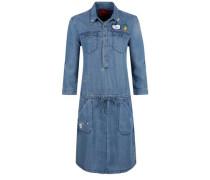 Leichtes Jeanskleid mit Patches blue denim