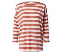 Shirt 'Beate' creme / feuerrot