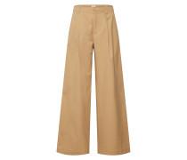 Jeans 'hi-Rise Pleated Wide LEG Jpn' beige