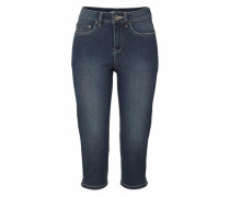 Caprijeans »mit Schlitz am Saum« blue denim