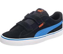 Kinder Sneakers '1948' aus Leder blau / schwarz / weiß