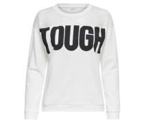 Printet Sweatshirt schwarz / weiß