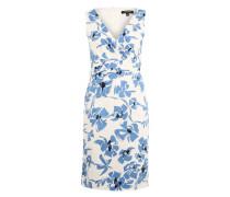 Kleid mit Flower-Print hellblau / offwhite