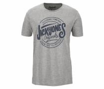 T-Shirt 'jorraw TEE SS Crew Neck' graumeliert