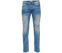 'Weft med blue' Regular fit Jeans blau