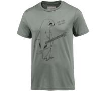 T-Shirt 'James' smaragd / schwarz