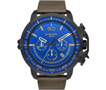 Chronograph blau / braun