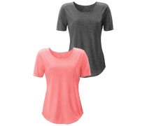 Beachtime Shirts (2 Stück) grau / rot