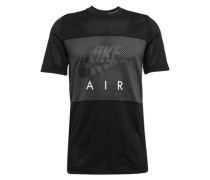 Shirt 'M NSW N TOP Nike AIR SS' anthrazit / schwarz