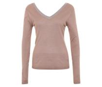Edler V-Ausschnitt-Pullover 'VILoca' beige / grau