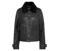 Lederjacke 'Billion Venice' schwarz