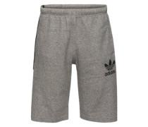 Shorts aus Sweat graumeliert