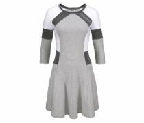 Sweatkleid anthrazit / graumeliert / weiß