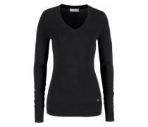 V-Ausschnitt-Pullover schwarz