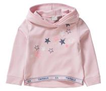 Sweatshirt mit Kapuze Sterne für Mädchen rosa