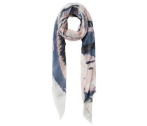 Langer Schal violettblau / rosa / weiß