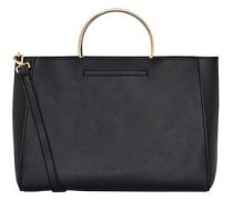 Handtasche mit Metallgriffen schwarz