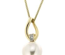 Jewels Anhänger mit Süßwasserzuchtperle und Brillant gold
