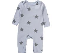 Baby Strampler für Mädchen taubenblau