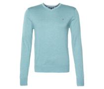 Pullover mit Seiden-Anteil blau