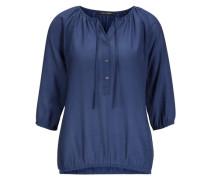 Shirt-Bluse blau