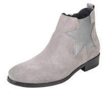 Chelsea Boots aus Leder grau