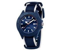Quarzuhr 'save THE Ocean 43Mm 3H Blue DIA Blu+Wh S'