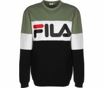 Sweatshirt oliv / weiß / schwarz