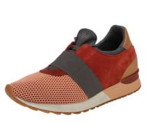 Sneakers mit Gummizug dunkelgrau / rostrot