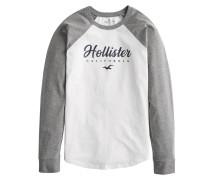 Shirt weiß / graumeliert