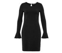 Kleid mit Ärmelvolants schwarz