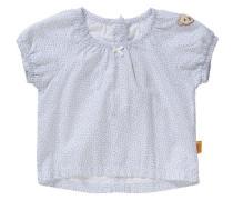 Bluse kurzärmlig hellblau / weiß