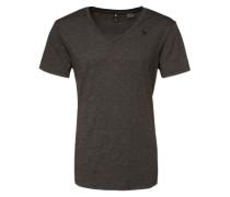T-Shirt 'Base V T' im 2er Pack schwarz