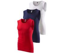 Muscleshirts (3 Stck.) blau / rot / weiß