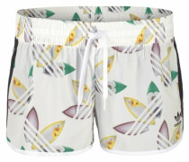 Surf Short mit Allover-Print weiß
