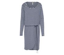 Gestreiftes Kleid 'glitter Organic' navy / weiß