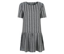 Kleid mit Jaquard-Muster schwarz / weiß