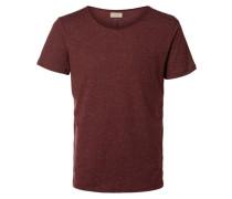 O-Ausschnitt-T-Shirt rot