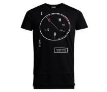 Detailliertes T-Shirt schwarz